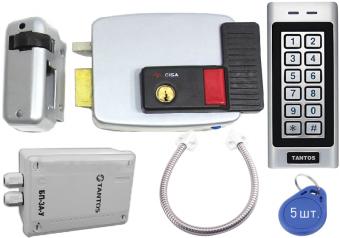 Комплект контроля доступа Tantos TS-KBD-EM-IP66, Cisa 11.630.60, Блок питания, гибкий переход