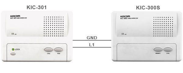 Комплект аудиодомофона KOCOM KIC-301 + KIC-300S