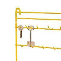 Стенд для ключей с крючками (синий, желтый)