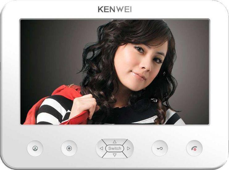 Монитор Kenwei KW-E706C-W200 видеодомофона