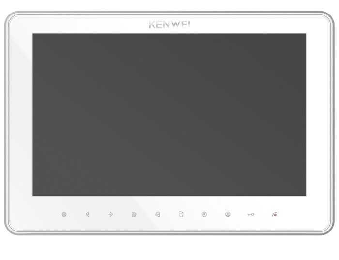 Монитор Kenwei KW-SA20C-PH-W200-HR (черный,белый) видеодомофона