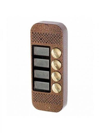 Панель JSB Systems JSB V084 PAL (медь, серебро, бронза, черный, белый, серый, золото, синий) вызывная на 4 абонента для видеодомофона