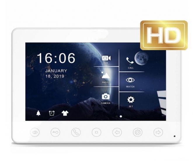 Монитор видеодомофона Fox FX-HVD70M V2 (Топаз) (белый/черный)