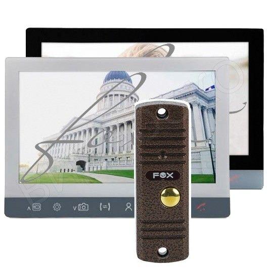 Комплект видеодомофона Fox FX-HVD70M-KIT V2 (Топаз) (белый/черный)