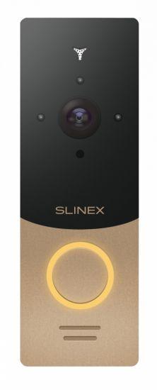 Панель Slinex ML-20IP вызывная для видеодомофона (золото, серебро)
