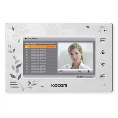 Монитор Kocom KCV-A374SD LE XL/VIZIT (белый, черный) видеодомофона
