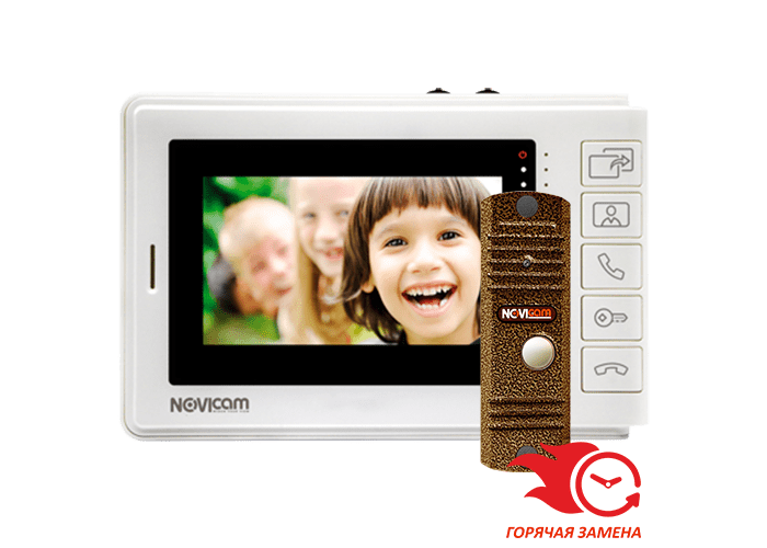 Комплект Novicam SMILE 7 HD KIT видеодомофона