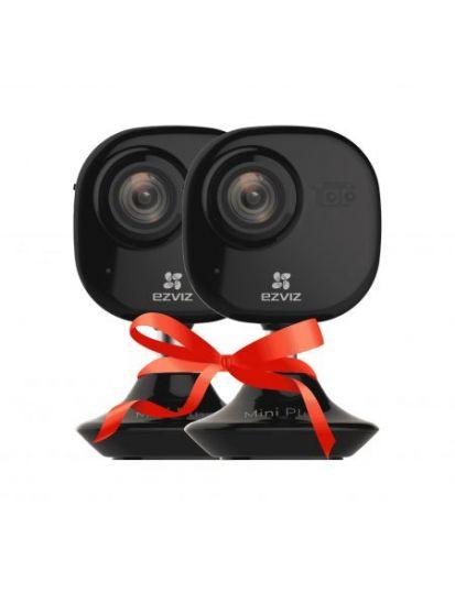 Комплект EZVIZ Mini Plus Black видеонаблюдения
