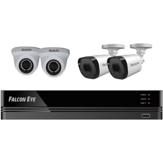 Комплект Falcon Eye FE-104MHD KIT Офис SMART видеонаблюдения