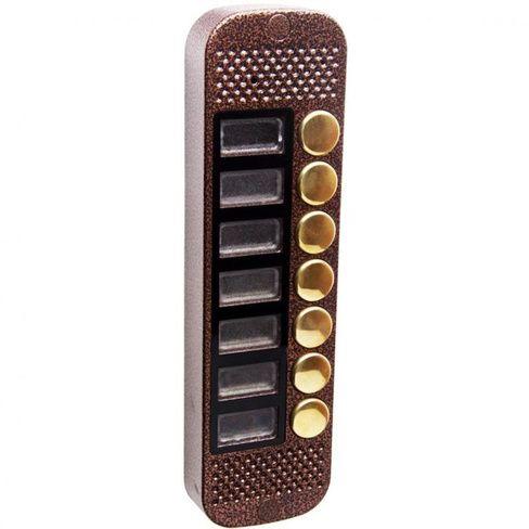 Аудиопанель JSB Systems JSB V087K (медь, серебро, бронза, черный, белый, серый, золото, синий) вызывная на 7 абонентов для домофона (без видеомодуля)