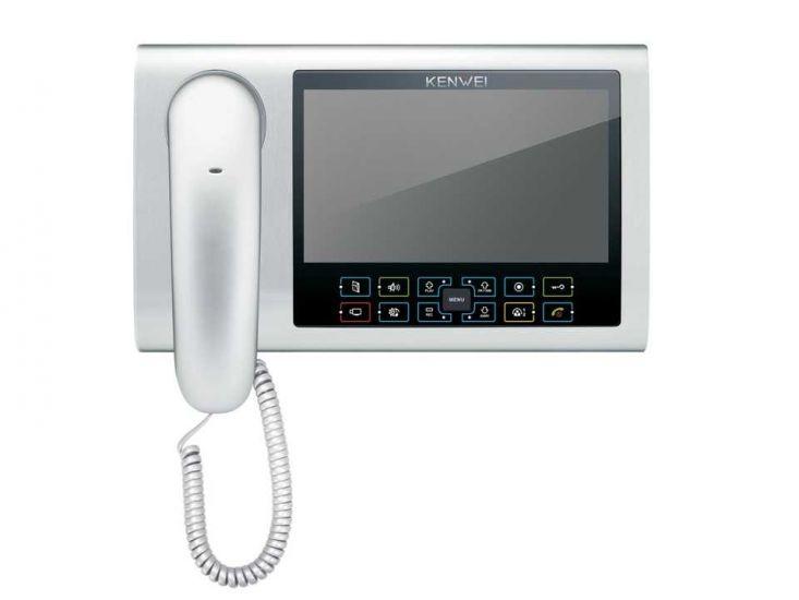 Монитор Kenwei KW S700C-W200 (серебро) видеодомофона