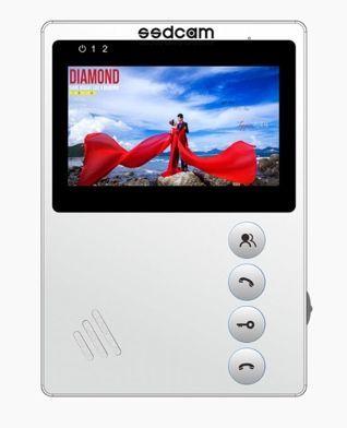 Монитор SSDCAM SD-410 (белый) видеодомофона