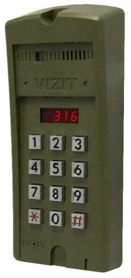 Блок вызова домофона Vizit БВД-316 FCP