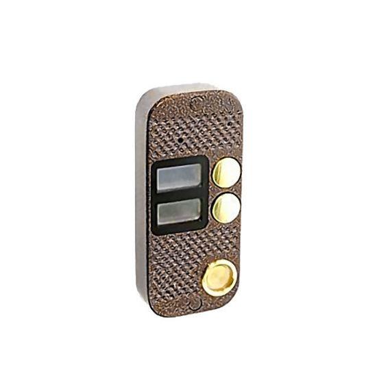 Аудиопанель JSB Systems JSB V082TM (медь, серебро, бронза, черный, белый, серый, золото, синий) вызывная на 2 абонента для домофона (без видеомодуля)