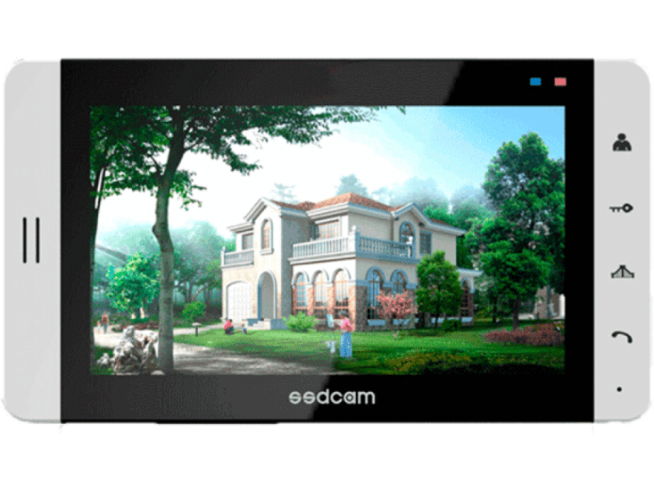 Монитор SSDCAM SD-708M (белый) видеодомофона