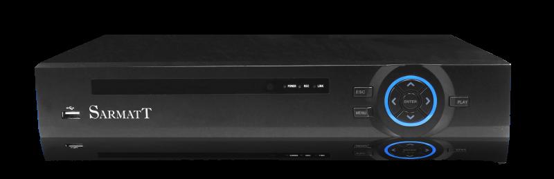 Видеорегистратор SarmatT DSR-1614-h 16-канальный гибридный