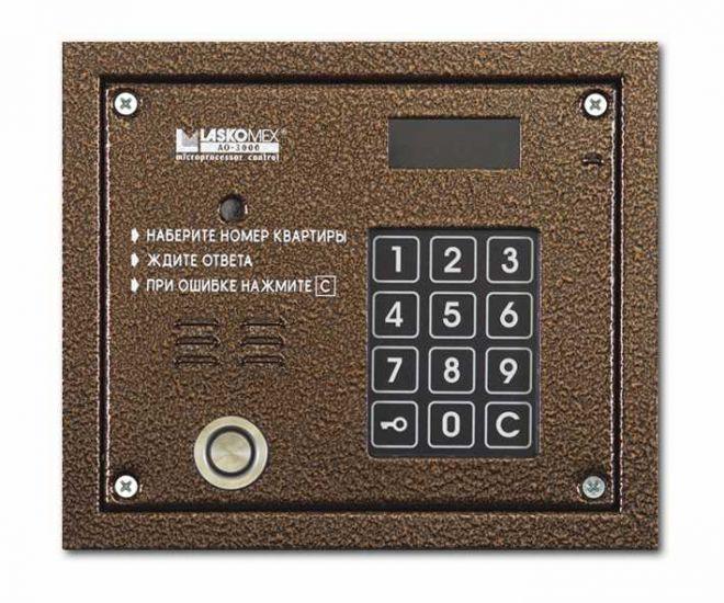Блок вызова домофона Laskomex AO-3000 VТМ (медь)