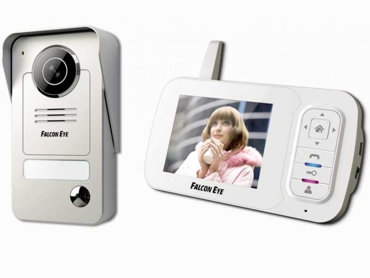 Комплект видеодомофона Falcon Eye FE-35WI (белый)