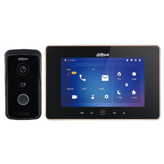IP Комплект Dahua DHI-VTK-VTO2111D-WP-VTH5221D видеодомофона