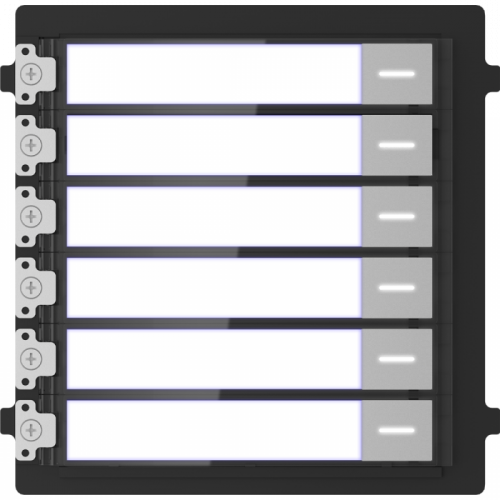 Модуль Hikvision DS-KD-KK на 6 абонентов с подсветкой