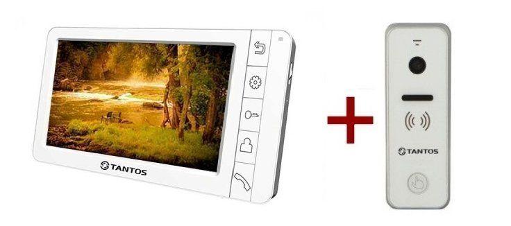 Комплект Tantos Amelie (черный, белый) видеодомофона