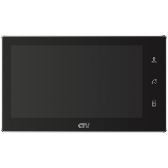 Монитор CTV-M4706AHD (Белый/Черный) видеодомофона Full HD/1080P/64Гб/детектор движения