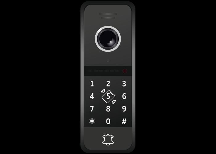 Панель Novicam FANTASY MRK HD (черный, серебро) многоабонентская вызывная для видеодомофона