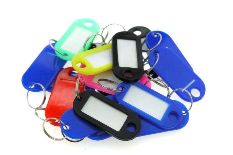 Бирки для ключей пластиковые