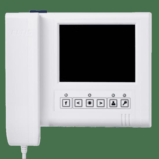 Монитор видеодомофона ELTIS VM500-5.1CLM координатный (белый, серый, золото)