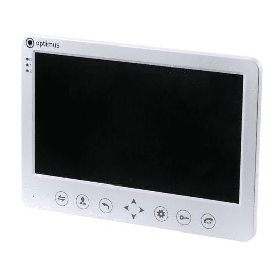 Монитор видеодомофона Optimus VM-7.1 (черный, белый)