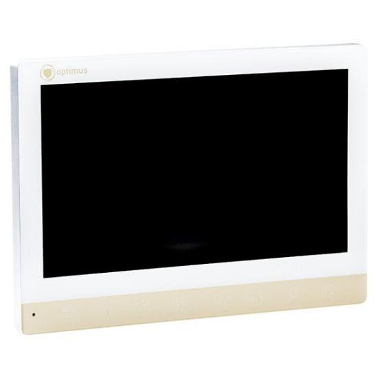 Монитор видеодомофона Optimus VMH-7 AHD (белый, золото, серый)