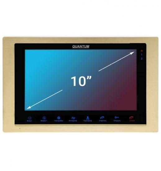 Монитор видеодомофона Quantum QM-A100 AHD (черный, золото, серебро)