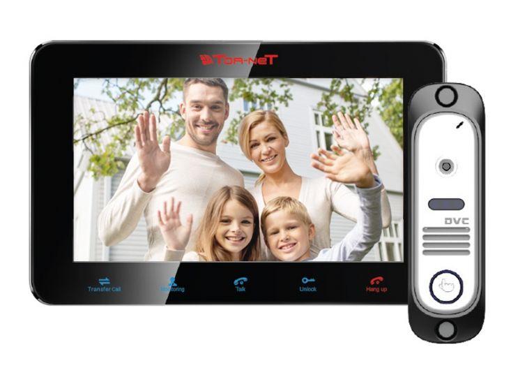 Комплект Tor-net TR-29M W/414S (белый, черный) видеодомофона