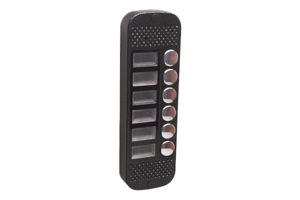 Аудиопанель JSB Systems JSB V086K (медь, серебро, бронза, черный, белый, серый, золото, синий) вызывная на 6 абонентов для домофона (без видеомодуля)