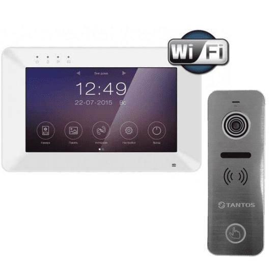 Комплект Tantos Rocky Wi-Fi и Вызывная панель Tantos Ipanel 2 видеодомофона