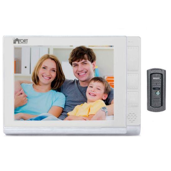Комплект видеодомофона FORT C080102HF-01 (белый, черный)