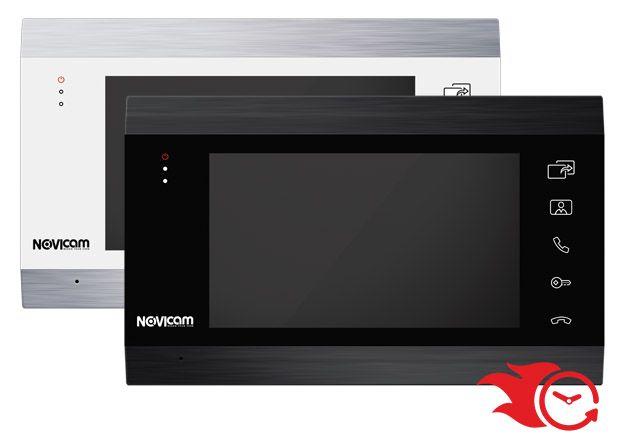 Монитор Novicam MAGIC 7 HD (белый, черный) видеодомофона