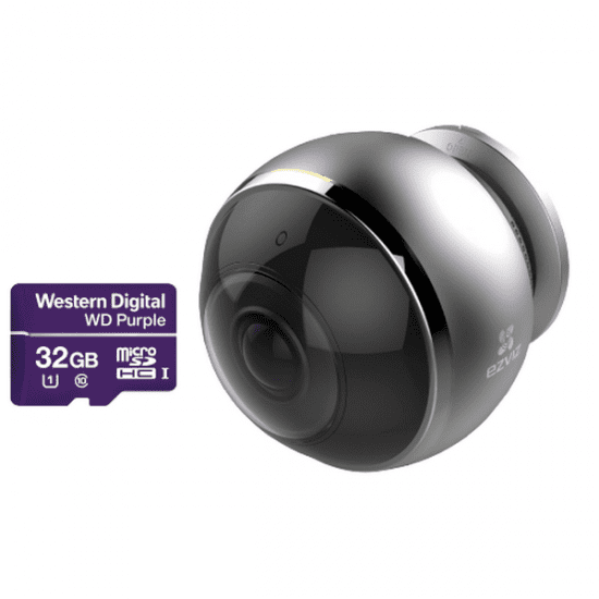 Камера EZVIZ C6P + Карта памяти WD Purple (WiFi) видеонаблюдения