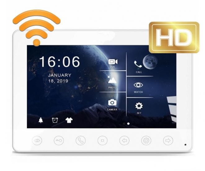 Монитор JVS SPARK HD WiFi видеодомофона