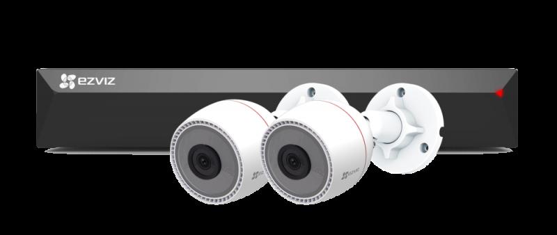 Набор EZVIZ PoE регистратор (8 каналов) с камерами C3T видеонаблюдения