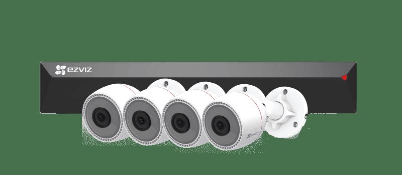 Набор EZVIZ PoE регистратор (8 каналов) с камерами (4 камеры) C3T видеонаблюдения