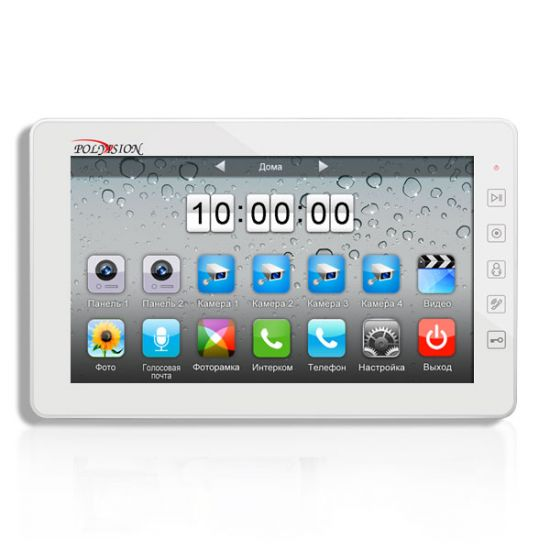 Монитор Polyvision PVD-10L v.7.1 (белый) видеодомофона