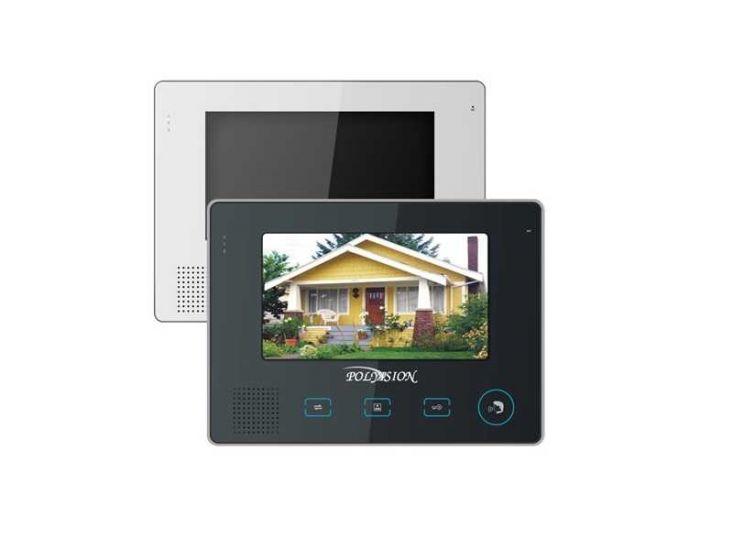 Монитор Polyvision PVD-705C (белый, черный) видеодомофона