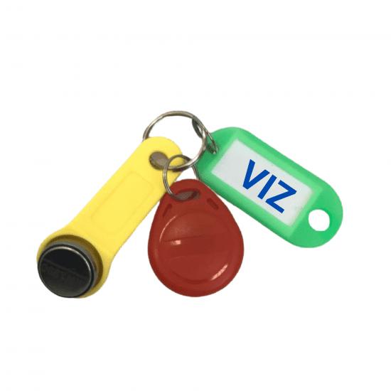 Комплект УК-VIZ (контактный, безконтактный) универсальных ключей для домофона
