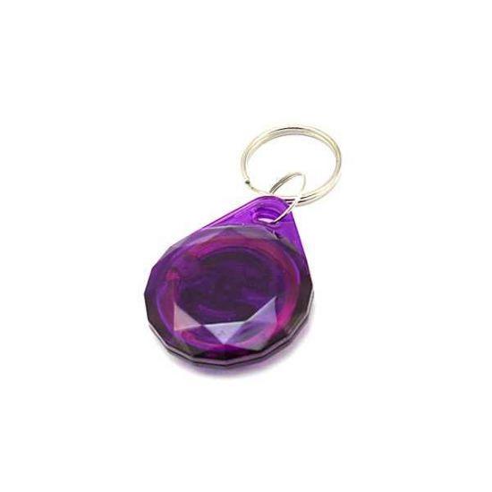 Заготовка RFID (H2) Кристалл фиолетовый брелок