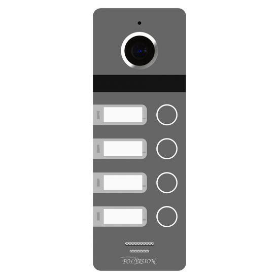 Цветная вызывная панель Polyvision PVP-L9-4HD v.8.1 для видеодомофона