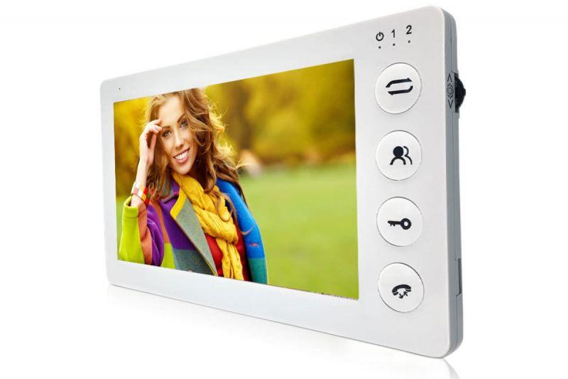 Видеодомофон J2000-DF-КАРИНА AHD 2,0 mp (белый) цветной