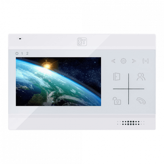 Видеодомофон ST-М102/4 (S) (белый, черный)