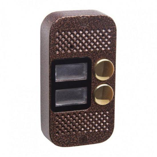 Панель Major Classic 800/2 (медь) вызывная 2-х абонентская для видеодомофона