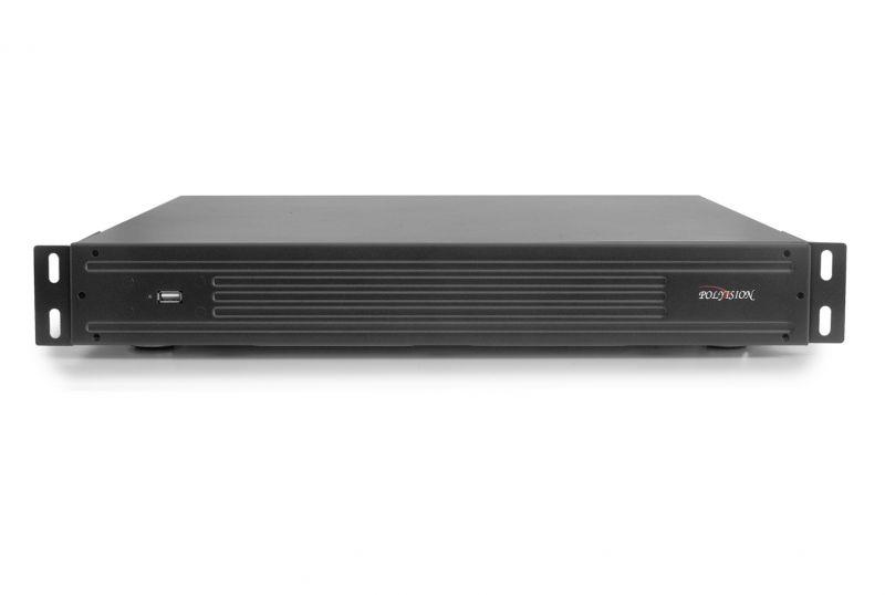 Видеорегистратор Polyvision PVDR-IP5-32M4 v.5.9.1 Black 32-канальный  мультигибридный